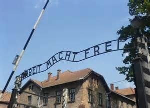 Arbeit Macht Frei sign over the main Auschwitz camp