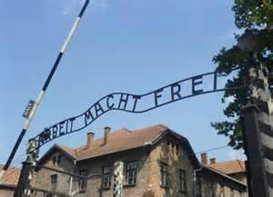 Arbeit Macht Frei sign over the main Auschwitz camp