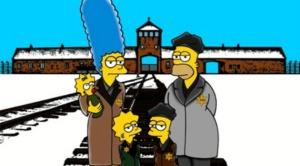 Cartoon characters at Auschwitz-Birkenau