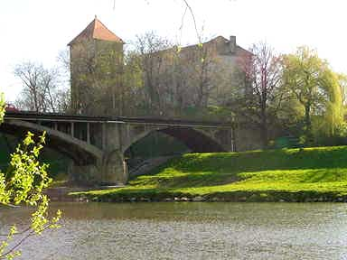 Original German castle in the town of Auschwitz