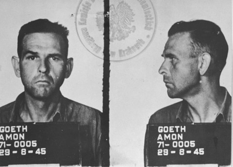 Amon Goeth's mugshot after he was arrested by the Germans