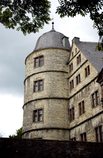 One of the towers of the Wewelsburg castle