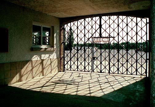My photo of the gate into the Dachau concentration camp