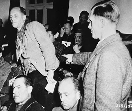 Eugen Seibold was a Kapo at Dachau. He testified for the prosecution at the trial of the SS men at Dachau