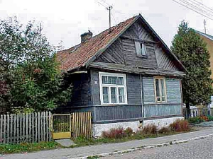 A house in Poland where Jews lived before World War II