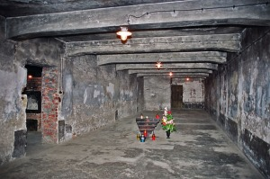 The gas chamber in the Auschwitz main camp
