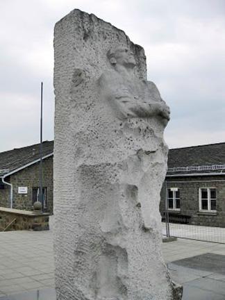 Memorial to Lt. Gen. Dmitri Karbyshev who was frozen in a block of ice