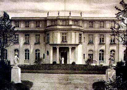 A photo of the Wannsee mansion, taken shortly after it was built in 1916