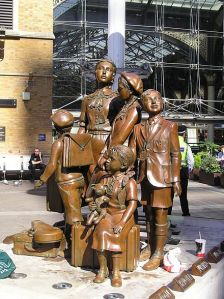 Memorial to the children on  the Kindertransport