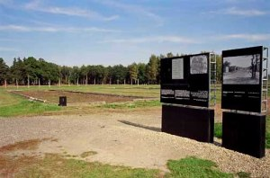 Location of the building known as Canada in the Auschwitz-Birkenau camp