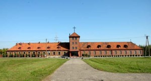 My photo of the former administration building at Auschwitz-Birkeanu