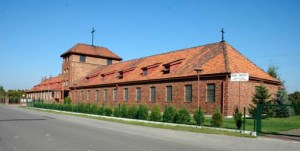My photo of the former Auschwitz Administration building, which is now a  Catholic church