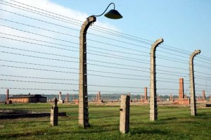 Original fence around the Birkenau camp
