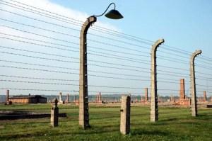 Original fence around the Birkenau camp