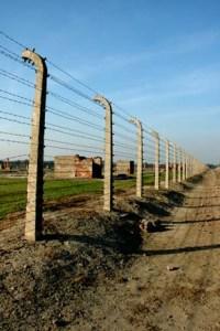 Ruins at the former men's camp at Birkenau