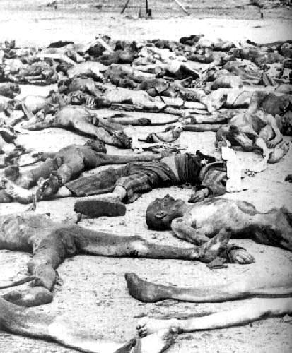 Dead prisoners at Bergen-Belsen