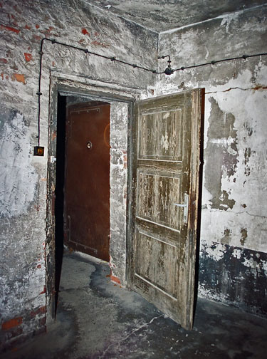 Door into the gas chamber in the main Auschwitz camp opened inward