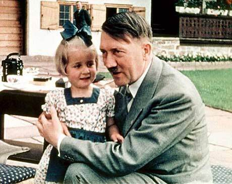 Hitler was noted for his love of children
