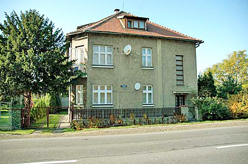 The house where Rudolf Hoess and his family lived was only a few yards from the gas chamber in the main camp