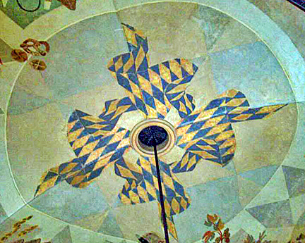 Famous swastika on the ceiling of the Hofbrauhaus has been  painted over