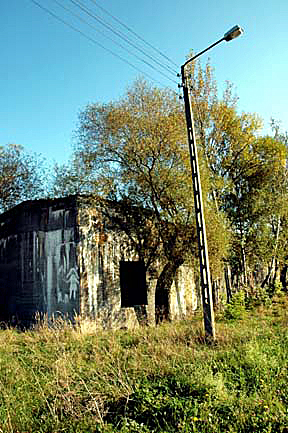 Bomb shelter in the town of Monowitz was for the SS men