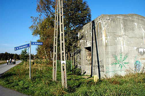 Bomb shelter for SS men in the town of Monowitz