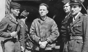 Rudolf Hoess after he was tortured by the British and forced to confess