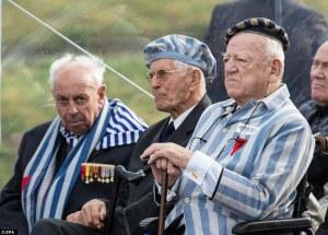 Survivors of Bergen-Belsen camp