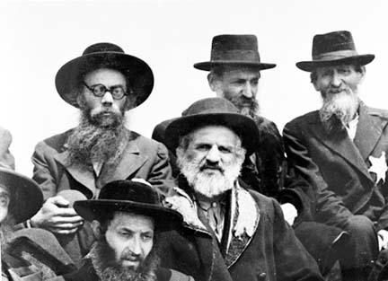 Religious Jews who were sent to Auschwitz-Birkenau to be killed