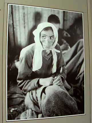 Photo of a Bergen-Belsen prisoner who survived