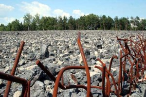 The entire Belzec Camp is now a field of broken concrete Photo Credit: Bonnie M. Harris