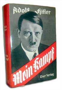 Hitler's famous book Mein Kampf (My Struggle)