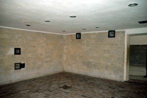 My photo of the Dachau shower room, which was allegedly a gas chamber