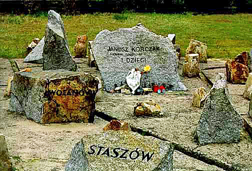 Memorial stone at Treblinka in honor of Janusz Korczak