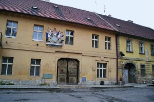 My 2000 photo of one of the buildings at Theresienstadt