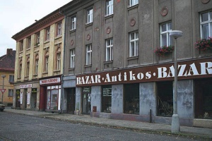 My 2000 photo of the building where a store for the Jewish residents could shop