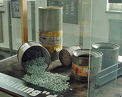 My photo of Zyklon-B pellets, taken at Mauthausen camp