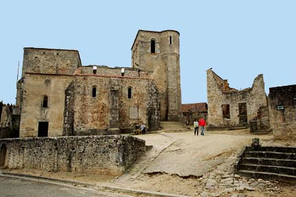My photo of the ruins of the Oradour-sur-Glane church