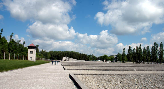 The former Dachau camp looks like this today