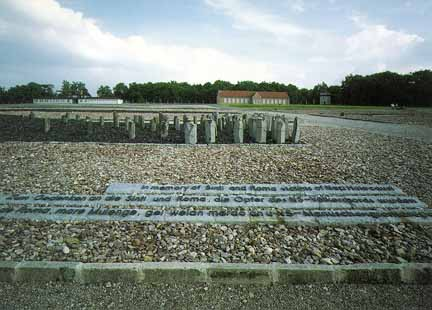 Memorial to the Gypsy victims of the Nazis at the former Buchenwald camp