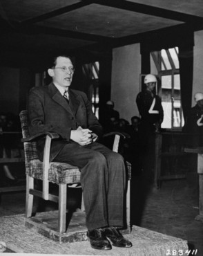 Eugen Kogon testified at the trial of SS men at Buchenwald