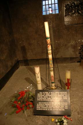 The prison cell where Father Kolbe died is now a shrine