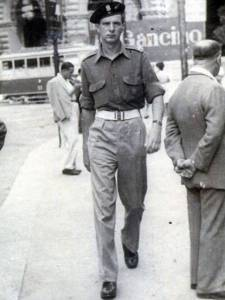 John Warnicki when he was an illegal combatant in World War II