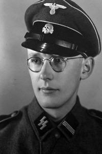 Oskar Groening as a young soldier