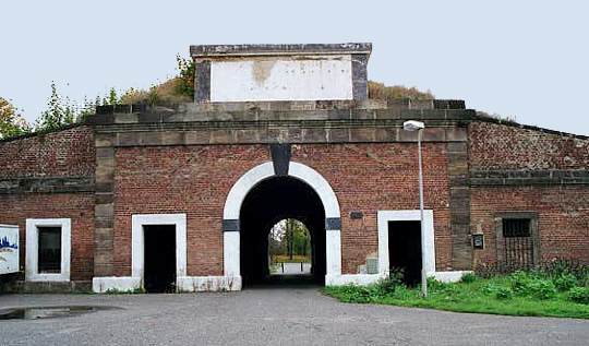 Gate into the walled ghetto formerly known as Theresienstadt