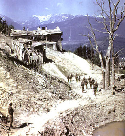The ruins of the Berghof after it was bombed by the British