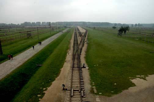 Train tracks were extended inside the Auschwitz-Birkenau camp