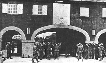 Main gate into the Dachau complex which included the concentration camp