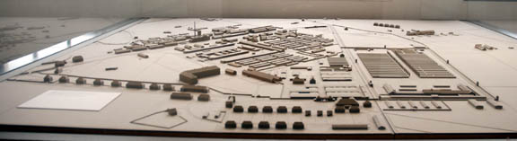 Model of Dachau concentration camp shows that it was right next to an SS garrison