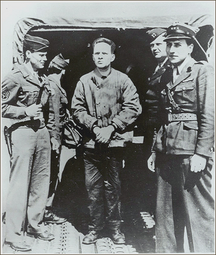Rudolf Hoess is shown after he was captured by the British